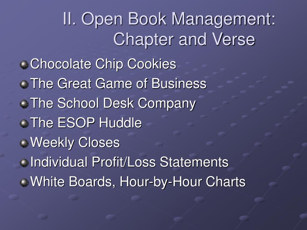 II. Open Book Management: