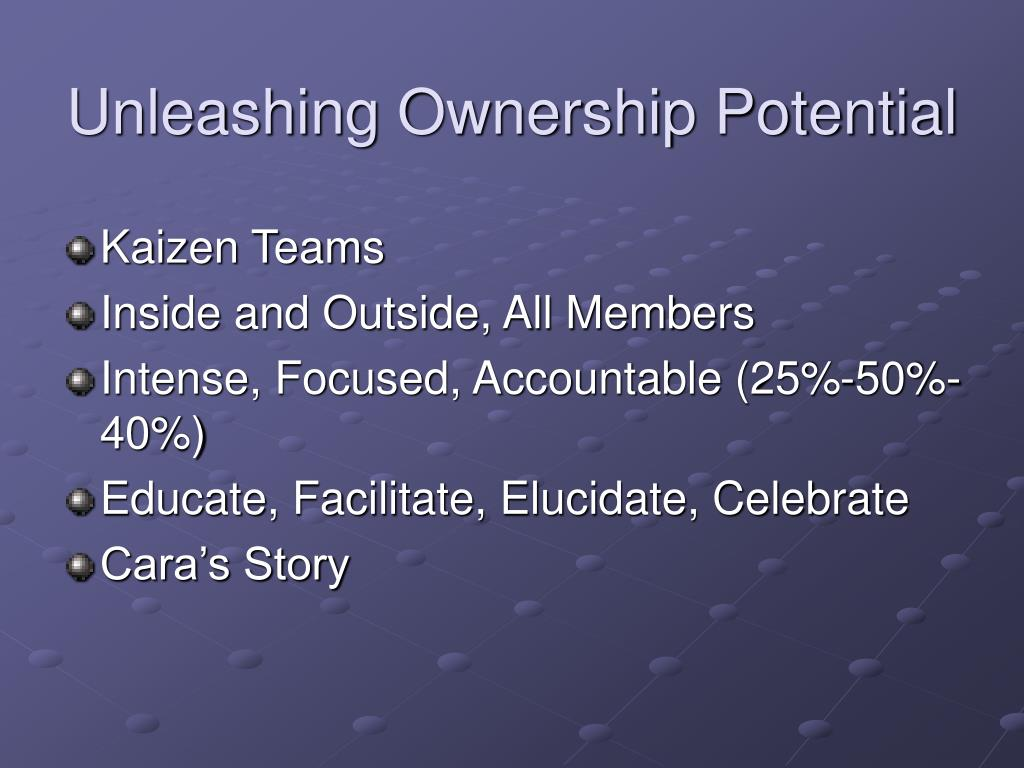 Unleashing Ownership Potential