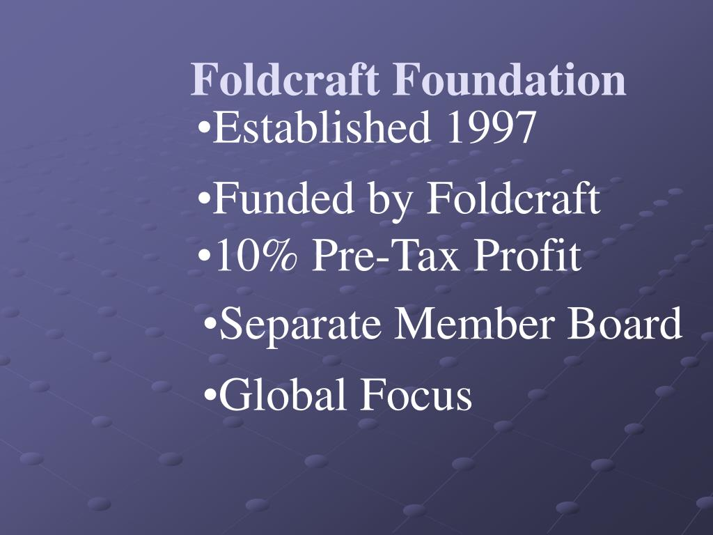 Foldcraft Foundation