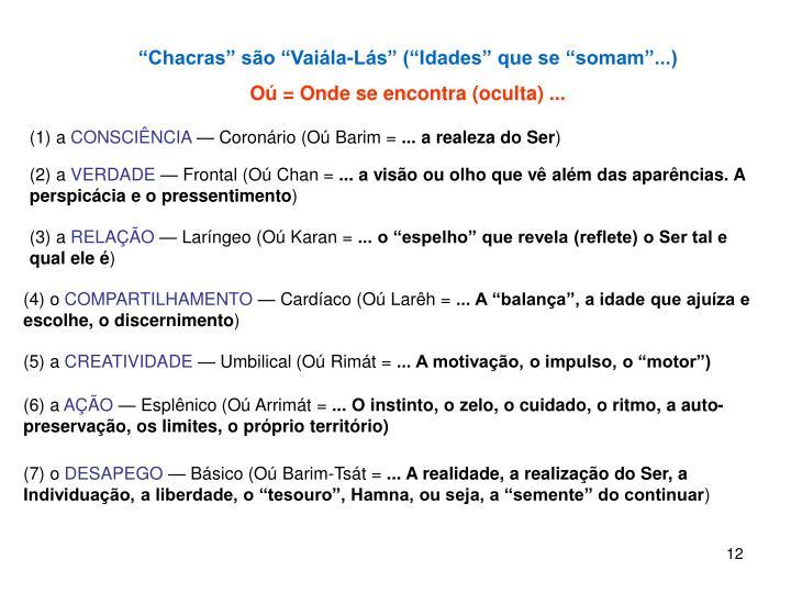 """""""Chacras"""" são """"Vaiála-Lás"""" (""""Idades"""" que se """"somam""""...)"""
