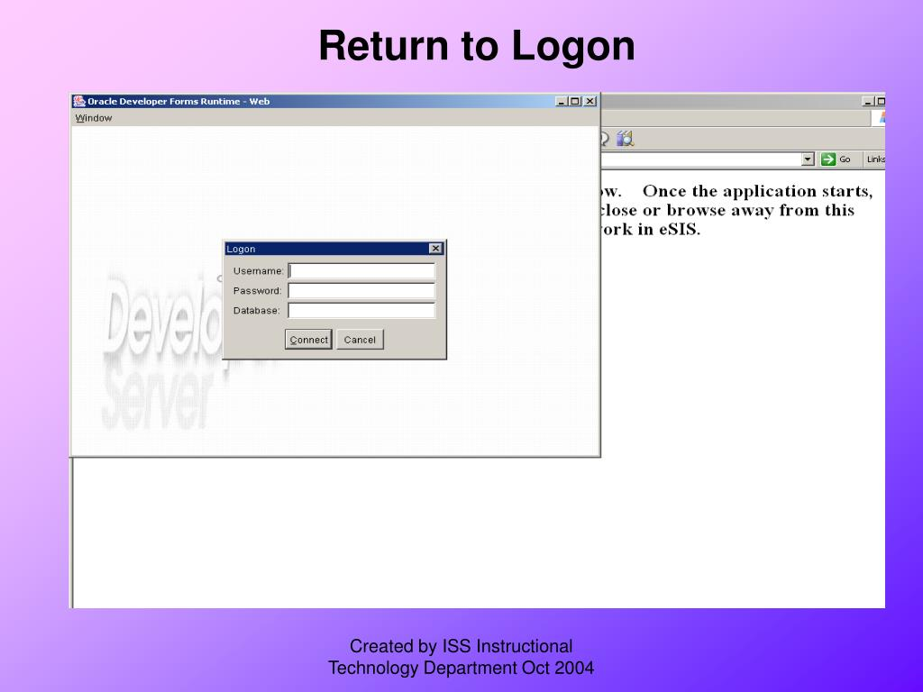 Return to Logon
