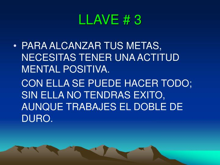 LLAVE # 3