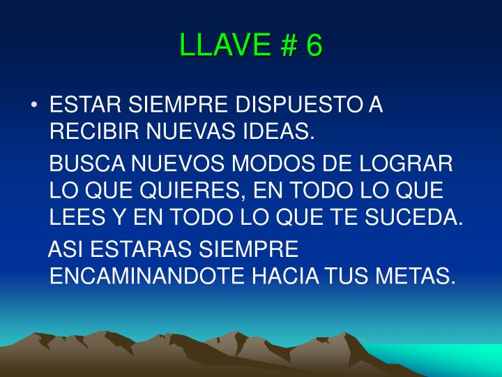 LLAVE # 6