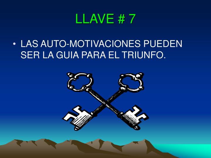 LLAVE # 7