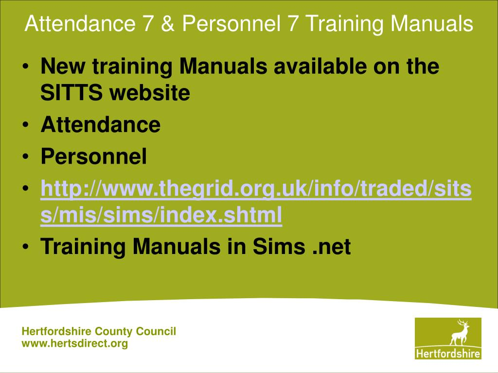Attendance 7 & Personnel 7 Training Manuals