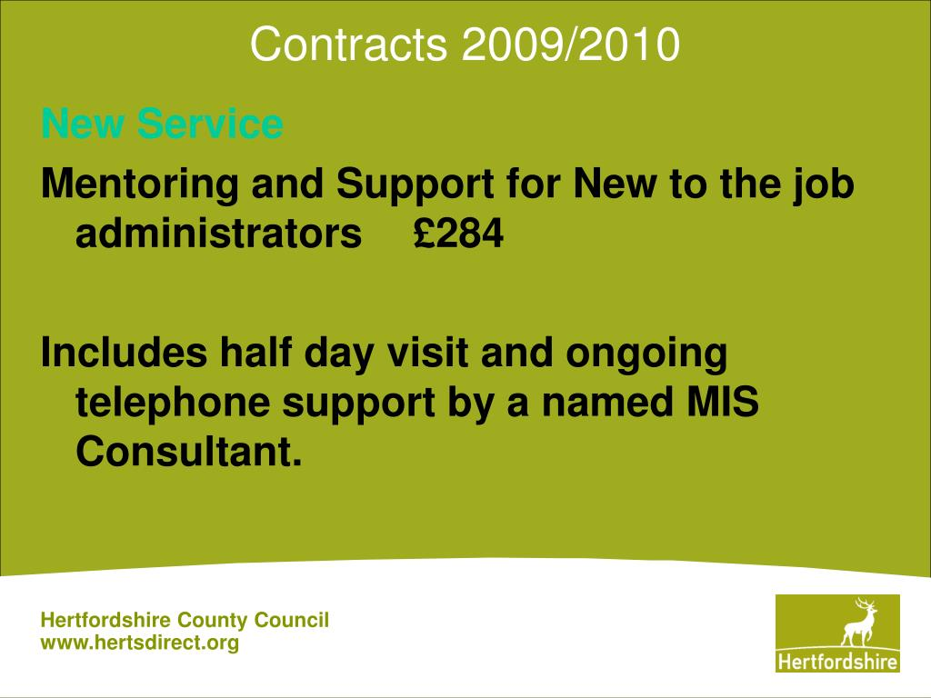 Contracts 2009/2010