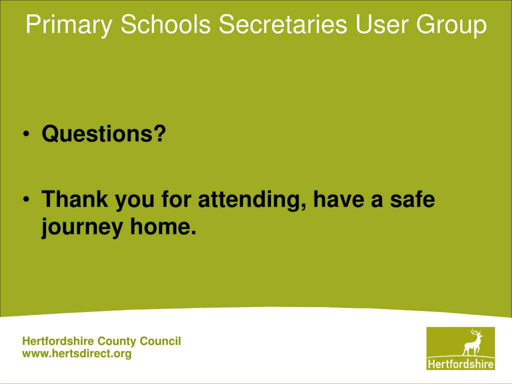 Primary Schools Secretaries User Group