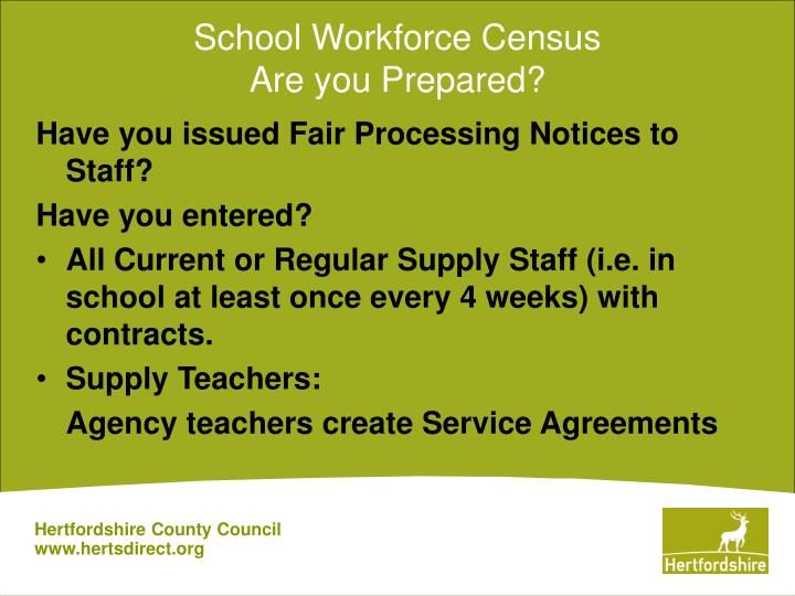 School workforce census are you prepared