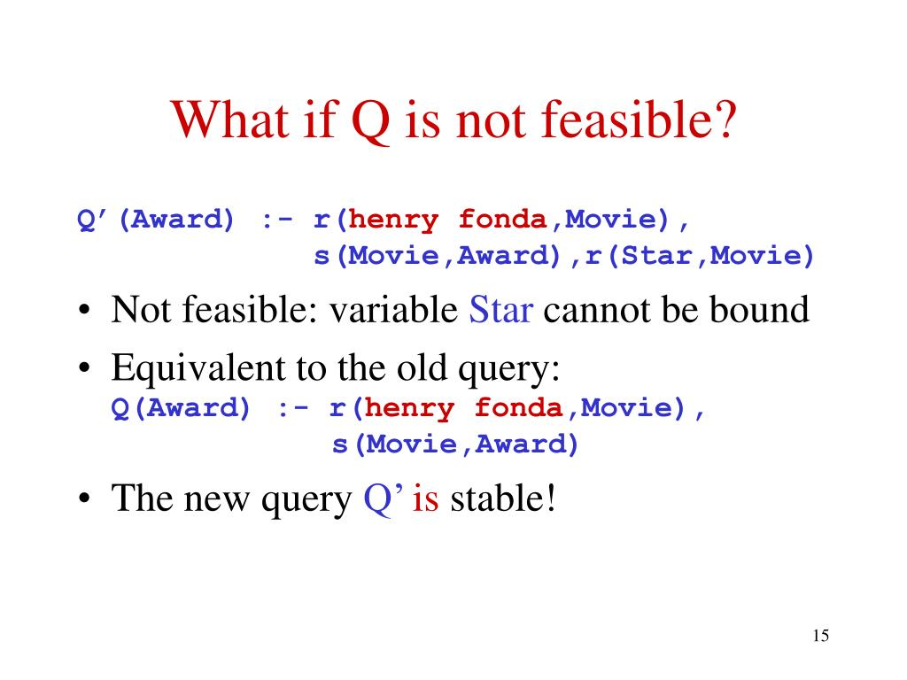 What if Q is not feasible?