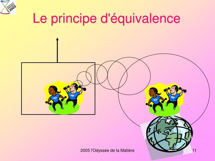Le principe d'équivalence