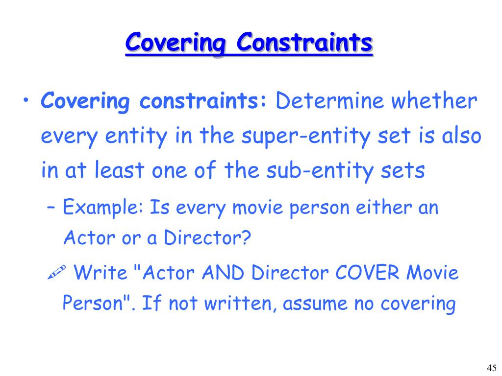 Covering Constraints