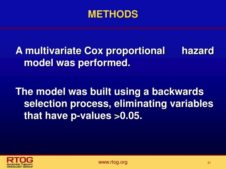 A multivariate Cox proportional      hazard model was performed.