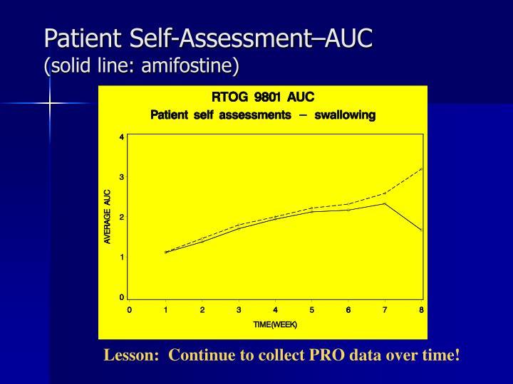 Patient Self-Assessment–AUC