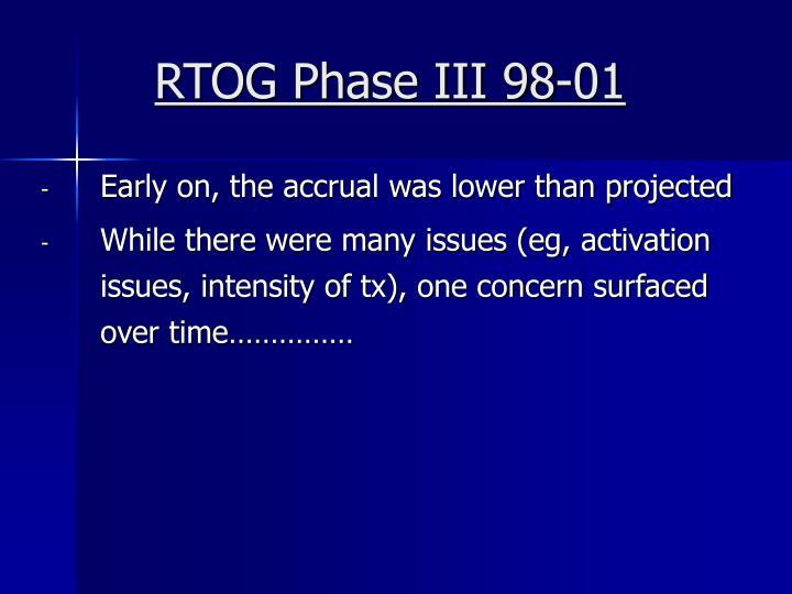 RTOG Phase III 98-01