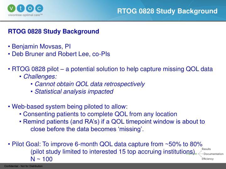 RTOG 0828 Study Background