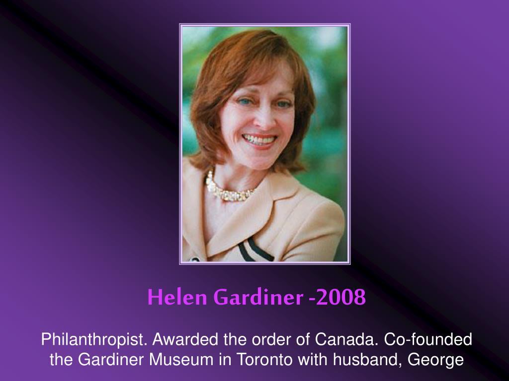 Helen Gardiner -2008