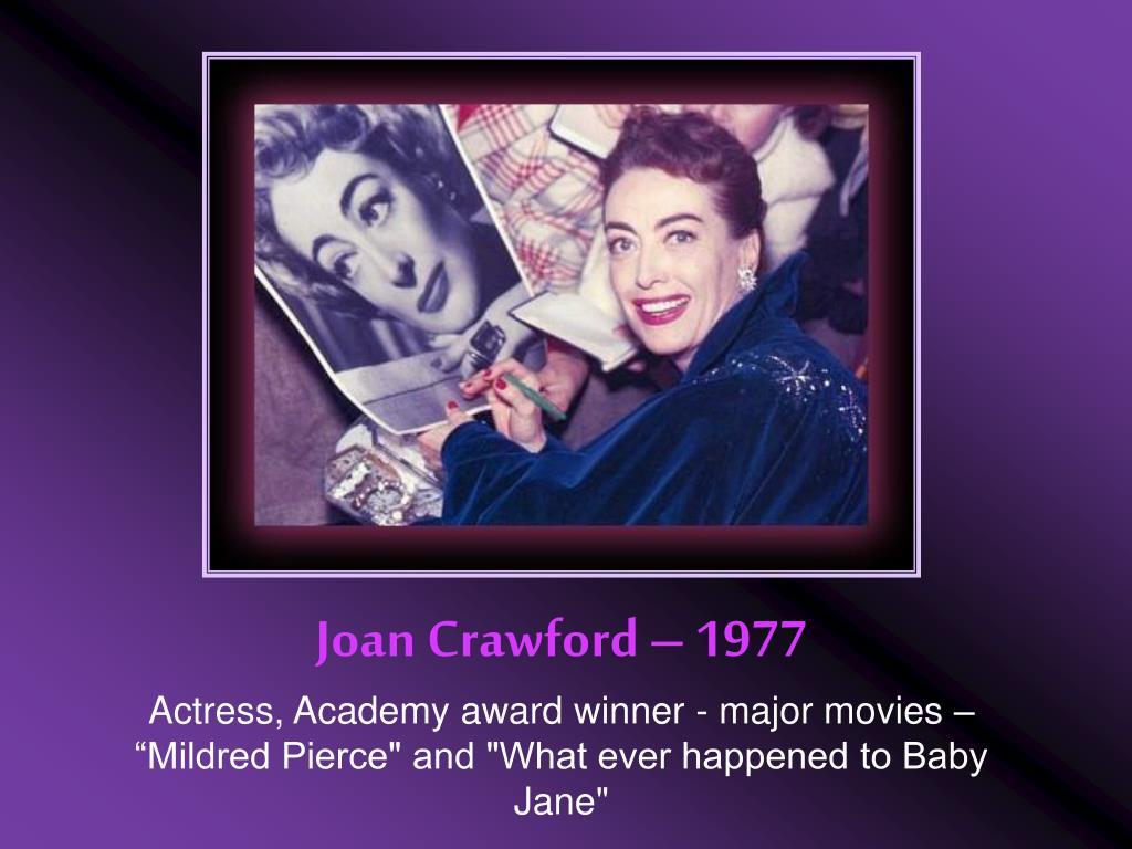 Joan Crawford – 1977