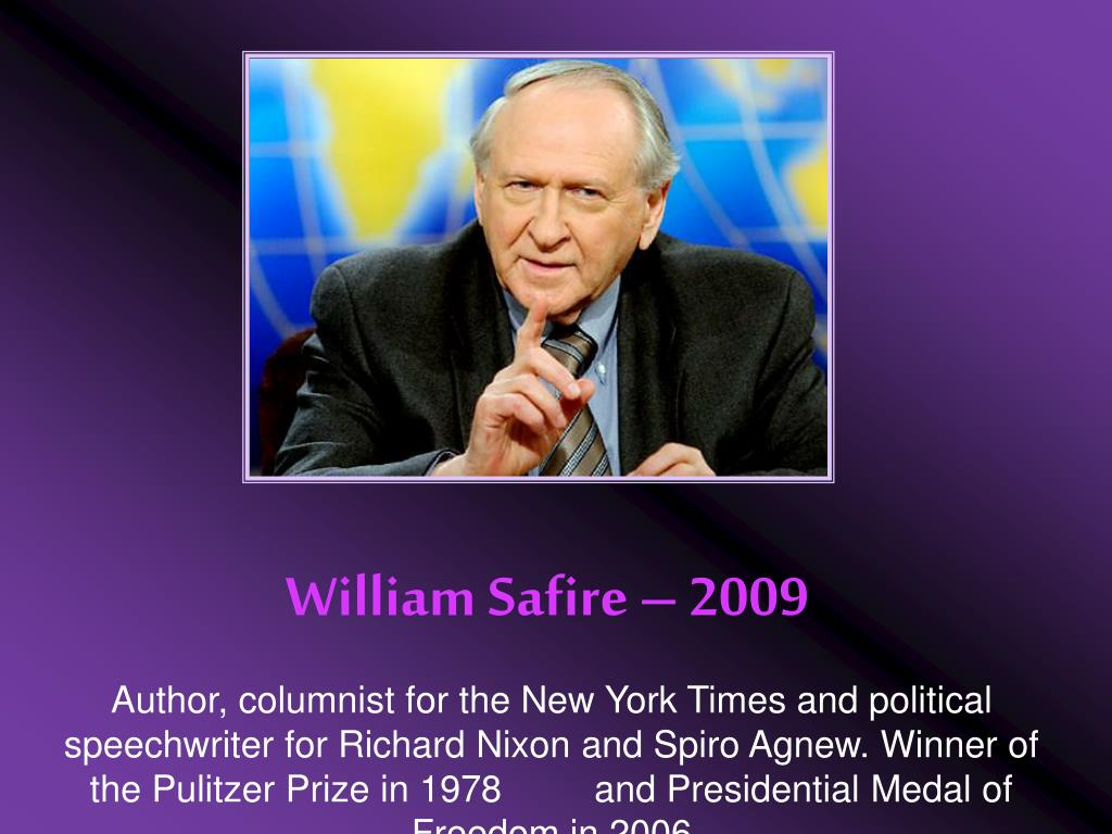 William Safire – 2009