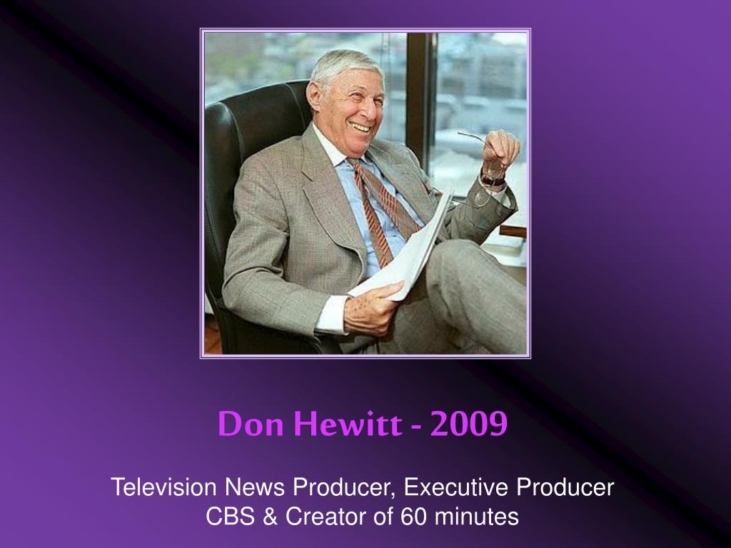 Don Hewitt - 2009