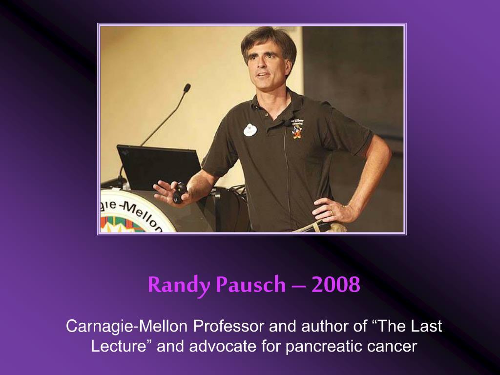 Randy Pausch – 2008