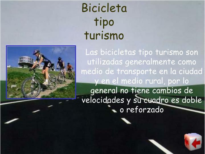 Bicicleta tipo turismo