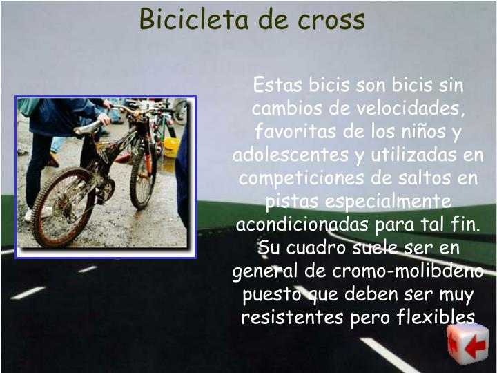Bicicleta de cross