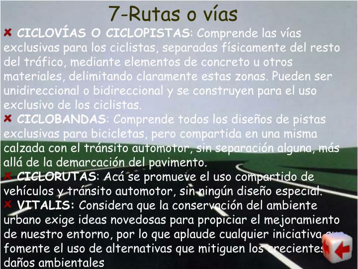 7-Rutas o vías