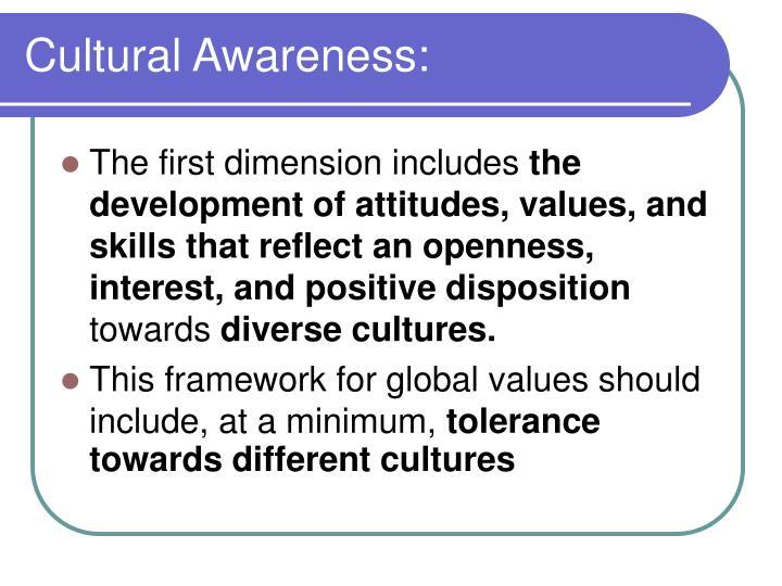 Cultural Awareness: