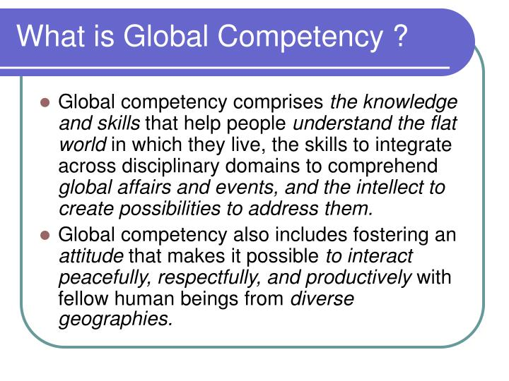What is global competency