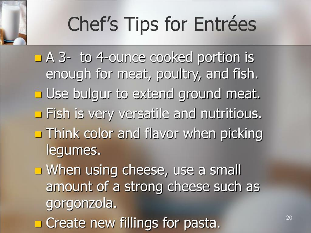 Chef's Tips for Entr
