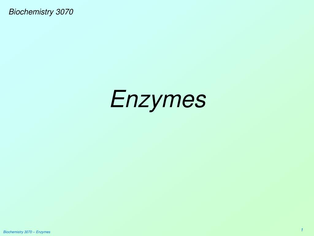 Biochemistry 3070