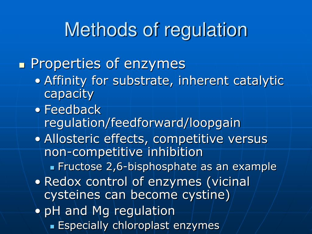 Methods of regulation