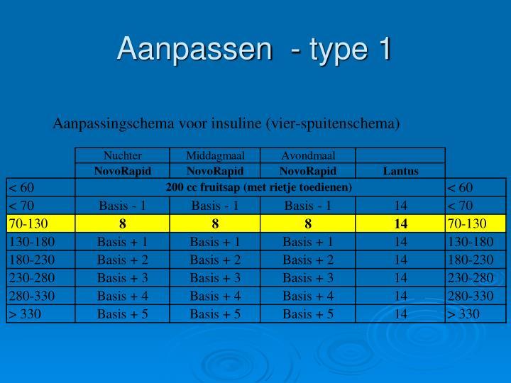 Aanpassen  - type 1