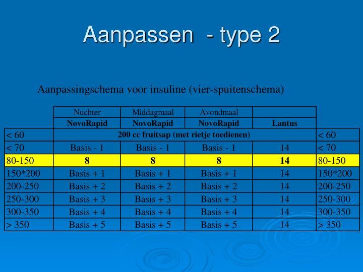 Aanpassen  - type 2
