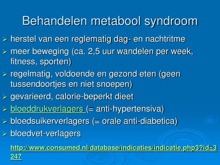Behandelen metabool syndroom