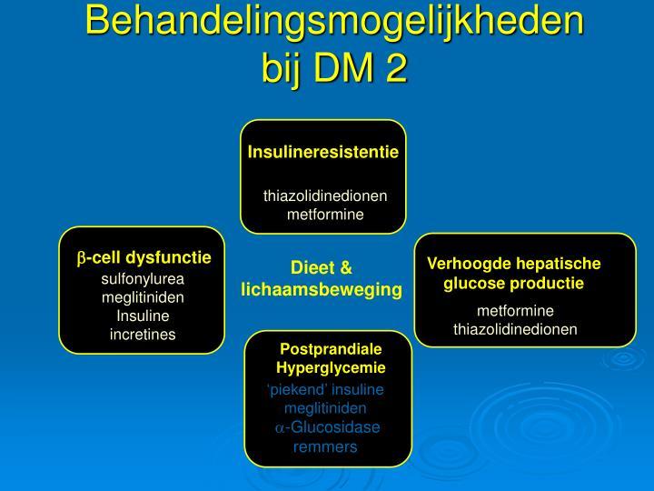 Behandelingsmogelijkheden bij DM 2