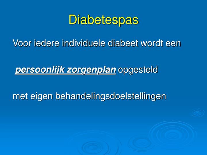 Voor iedere individuele diabeet
