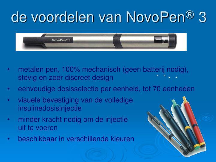 de voordelen van NovoPen