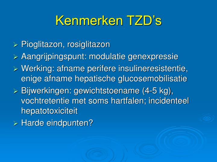 Kenmerken TZD's
