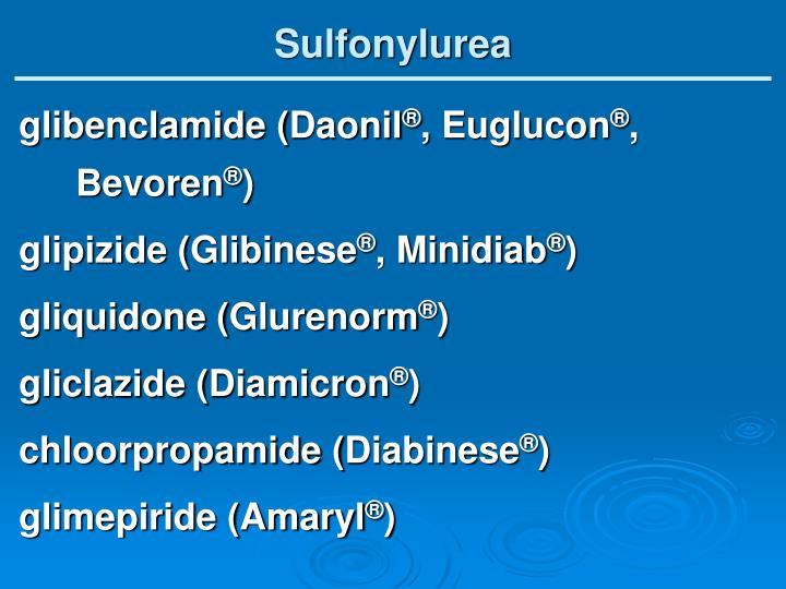 Sulfonylurea
