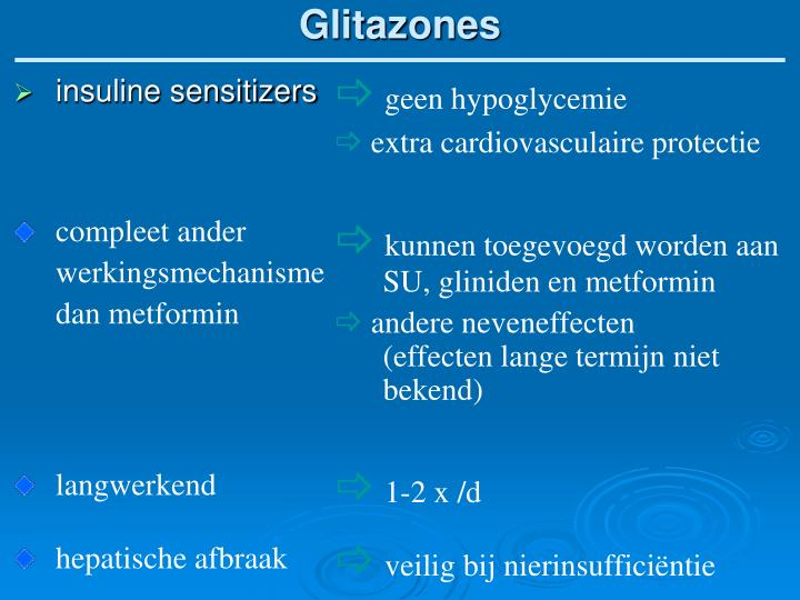Glitazones