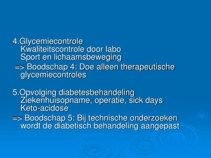 4.Glycemiecontrole