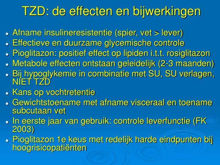 TZD: de effecten en bijwerkingen