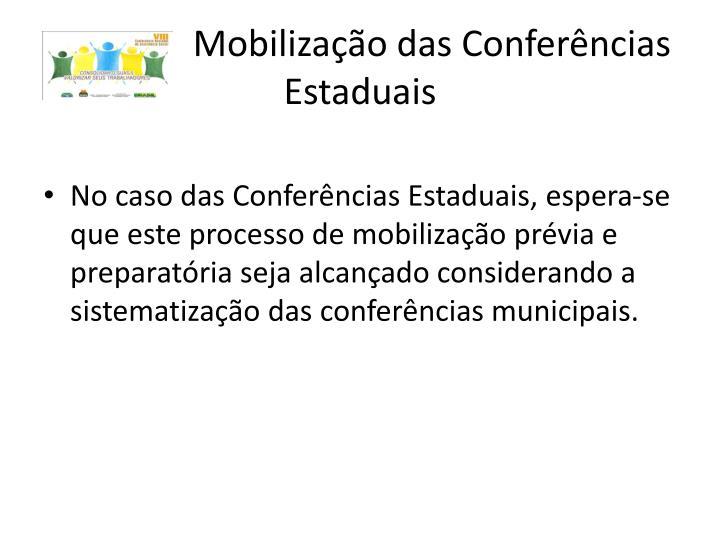 Mobilização das Conferências Estaduais