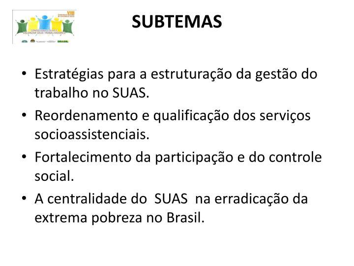 SUBTEMAS
