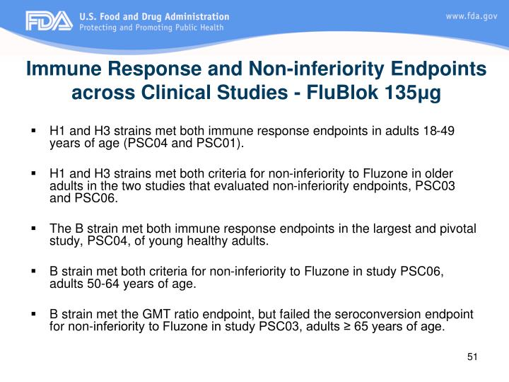 Immune Response and Non-inferiority Endpoints