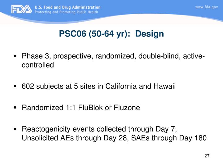 PSC06 (50-64 yr):  Design