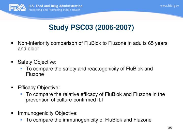 Study PSC03 (2006-2007)
