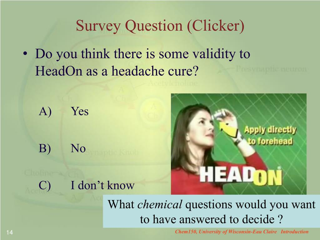 Survey Question (Clicker)