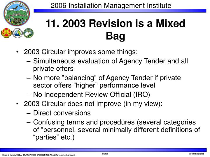 2003 Circular improves some things: